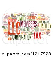 Clipart Of A Colorful Llc Business Word Collage On White Royalty Free Illustration