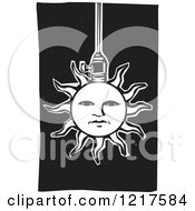 Clipart Of A Solar Sun Lamp On Black Royalty Free Vector Illustration by xunantunich