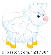 Clipart Of A Cute Airbrushed Sheep Royalty Free Illustration
