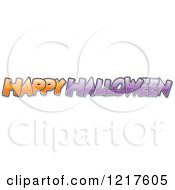 Clipart Of Orange And Purple Happy Halloween Text Royalty Free Vector Illustration
