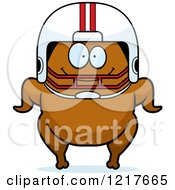 Clipart Of A Happy Football Turkey Character Royalty Free Vector Illustration