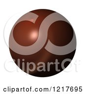 Clipart Of A 3d Brown Globe On White Royalty Free Illustration