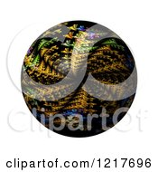 Clipart Of A Colorful Kaleidoscope Globe On White Royalty Free Illustration