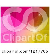 Clipart Of A Geometric Polygon Background In Pink Red And Yellow Royalty Free Vector Illustration