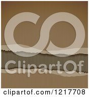 Clipart Of A Torn Corrugated Cardboard Background Royalty Free Vector Illustration