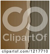 Clipart Of A Ripped Corrugated Cardboard Background Royalty Free Vector Illustration