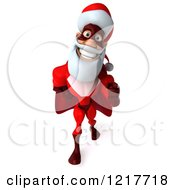 3d Super Hero Santa Walking And Pointing 2