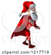 3d Super Hero Santa Walking