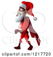 3d Super Hero Santa Walking 2