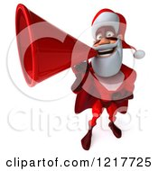 3d Super Hero Santa Using A Megaphone 3