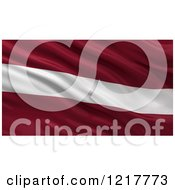 Clipart Of A 3d Waving Flag Of Latvia With Rippled Fabric Royalty Free Illustration