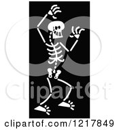 Clipart Of A White Bad Skeleton On Black Royalty Free Vector Illustration by Zooco
