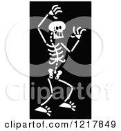White Bad Skeleton On Black