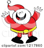 Clipart Of Santa Claus Laughing Royalty Free Vector Illustration by Zooco