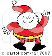 Clipart Of Santa Claus Waving Royalty Free Vector Illustration