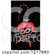 Clipart Of A Stiched Zombie Woman Royalty Free Vector Illustration by Zooco