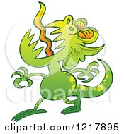 Clipart Of A Disgusting Green Monster Royalty Free Vector Illustration by Zooco