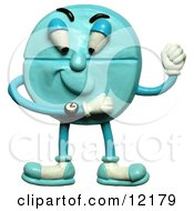 Clay Sculpture Clipart Blue Pill Timing To Knock Royalty Free 3d Illustration