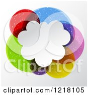 Clipart Of A Colorful Speech Bubble Cloud With Text Space Royalty Free Vector Illustration by KJ Pargeter