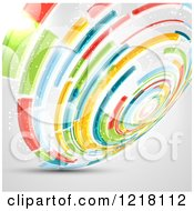 Clipart Of A Colorful Abstract Spiral Royalty Free Vector Illustration