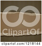 Clipart Of A Ripped Corrugated Cardboard Background 2 Royalty Free Vector Illustration