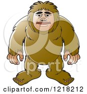 Clipart Of A Laughing Big Foot Royalty Free Vector Illustration by Lal Perera