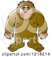 Clipart Of A Happy Big Foot Royalty Free Vector Illustration