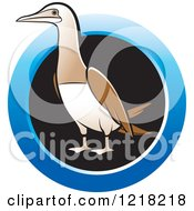 Clipart Of A Bobo Booby Bird With A Blue Ring Royalty Free Vector Illustration