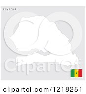 Senegal Map And Flag