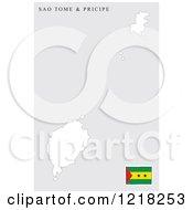 Sao Tome And Principe Map And Flag