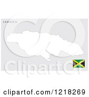 Jamaica Map And Flag