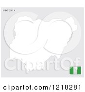 Clipart Of A Nigeria Map And Flag Royalty Free Vector Illustration