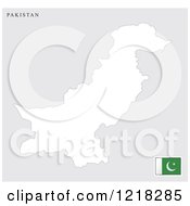 Clipart Of A Pakistan Map And Flag Royalty Free Vector Illustration