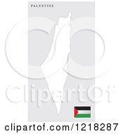 Clipart Of A Palestine Map And Flag Royalty Free Vector Illustration by Lal Perera