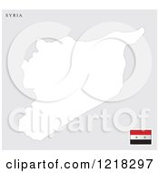 Clipart Of A Syria Map And Flag Royalty Free Vector Illustration