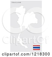 Clipart Of A Thailand Map And Flag Royalty Free Vector Illustration
