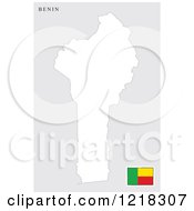Benin Map And Flag