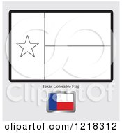 Clipart Of A Coloring Page And Sample For A Texas Flag Royalty Free Vector Illustration