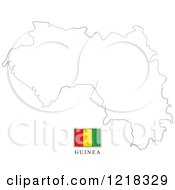 Clipart Of A Guinea Flag And Map Outline Royalty Free Vector Illustration by Lal Perera