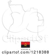 Clipart Of A Angola Flag And Map Outline Royalty Free Vector Illustration by Lal Perera