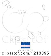 Clipart Of A Cape Verde Flag And Map Outline Royalty Free Vector Illustration by Lal Perera