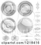 Silver Seal Designs And Swirls