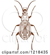 Clipart Of A Brown And White Beetle 3 Royalty Free Vector Illustration by Vector Tradition SM