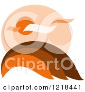 Clipart Of A Hilly Autumn Design 2 Royalty Free Vector Illustration