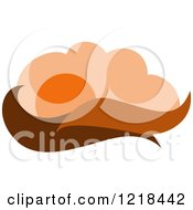 Clipart Of A Hilly Autumn Design Royalty Free Vector Illustration