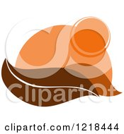 Clipart Of A Hilly Autumn Design 5 Royalty Free Vector Illustration