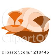 Clipart Of A Hilly Autumn Design 7 Royalty Free Vector Illustration