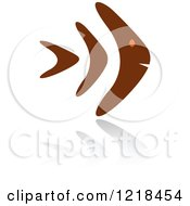 Clipart Of An Abstract Orange And Brown Fish 6 Royalty Free Vector Illustration by Vector Tradition SM