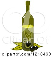 Clipart Of A Bottle Of Extra Virgin Olive Oil 7 Royalty Free Vector Illustration