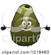 Happy Avocado Character